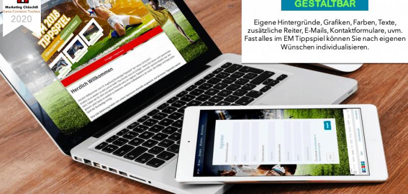 Fussball Tippspiel EM/WM - Unternehmen erstellen Computer