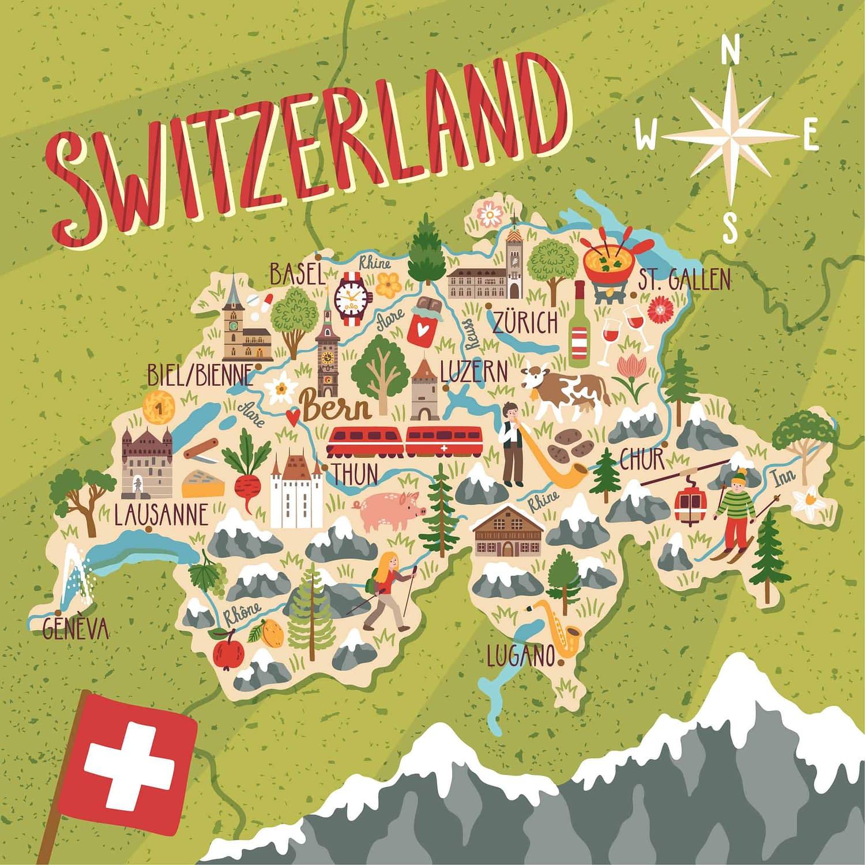 interaktive Grafik - Schweiz online Schnitzeljagd