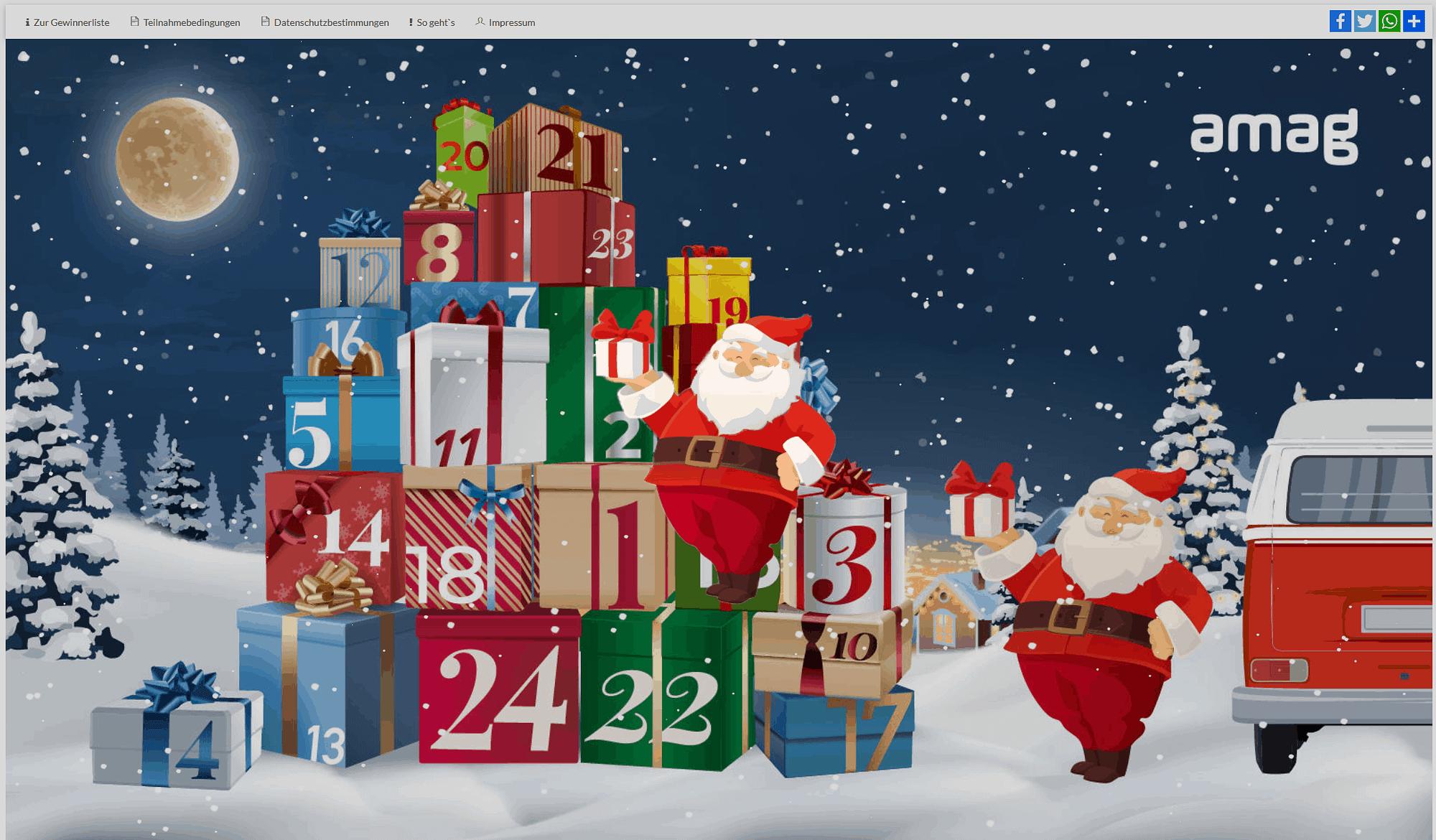 AMAG online Adventskalender - Weihnachtsmann