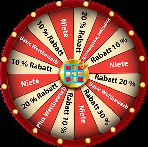 Spin-and-Win-Glücksrad für Webseite