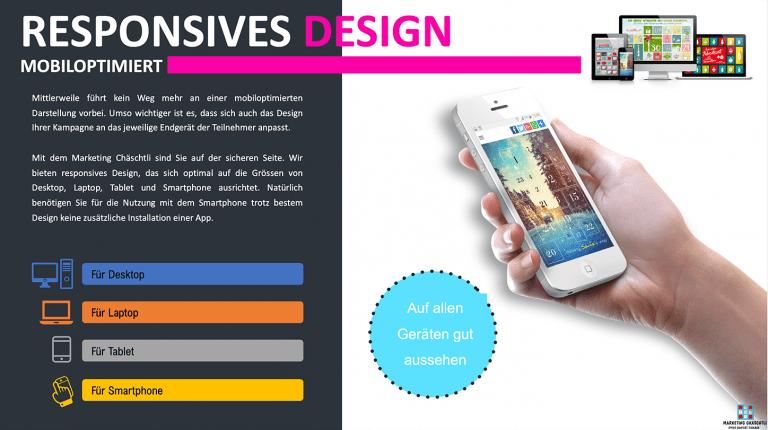 Markting Chäschtli - responsives Design