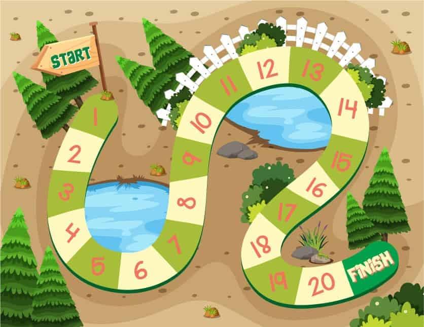interaktive Grafik - Brettspiel online Schnitzeljagd