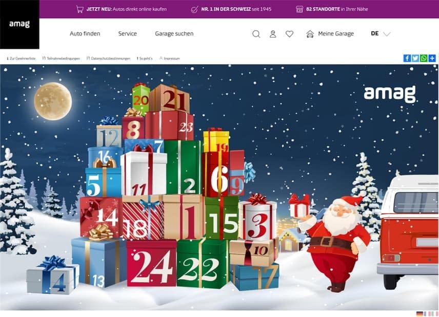 AMAG Webseite 2020 Adventskalender